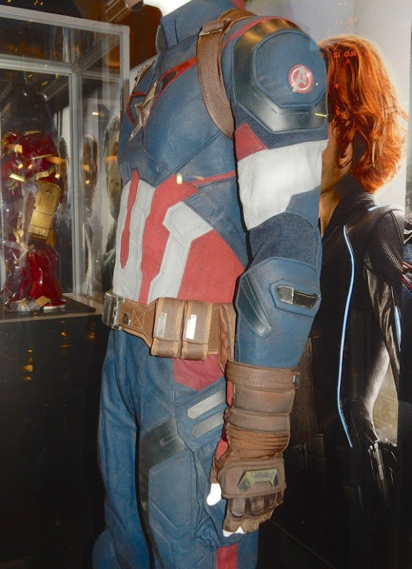 Captain America film costume detail Avengers Age of Ultron