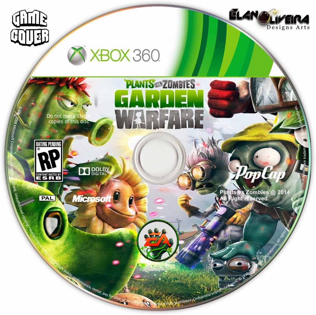Capa Plants VS Zobies: Garden Warfare XBOX 360
