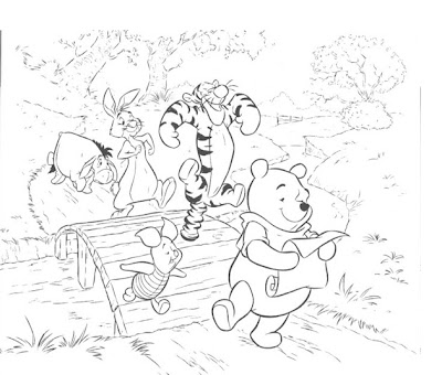 Winnie the Pooh and Friends Coloring