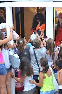 Rihanna leaving the store
