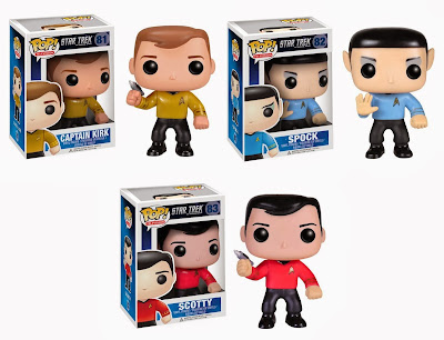 Star Trek The Original Series Pop! Television Vinyl Figures by Funko - Captain Kirk, Spock & Scotty