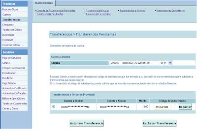 Autorizar Transferencias