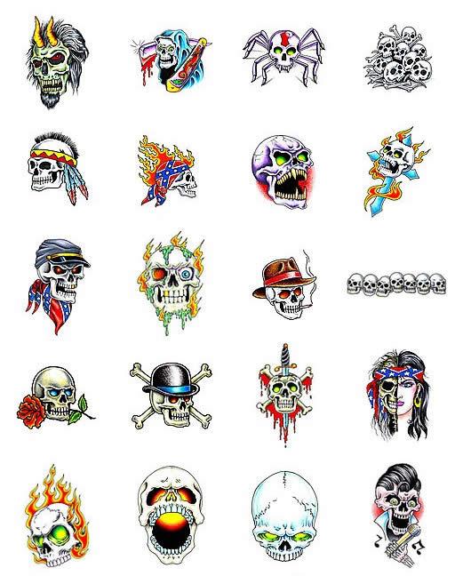 skulls tattoo designs. skull tattoo art design