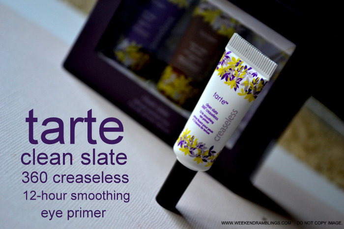 Makeup Tarte Clean Slate 360 Creaseless 12-Hour Smoothing Eye Primer Beauty Blog Reviews Ingredients