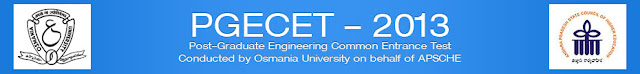 PGECET Hall Ticket 2013 Download Osmania University