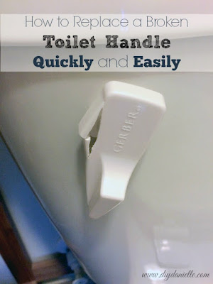 How to replace the toilet tank flush lever.
