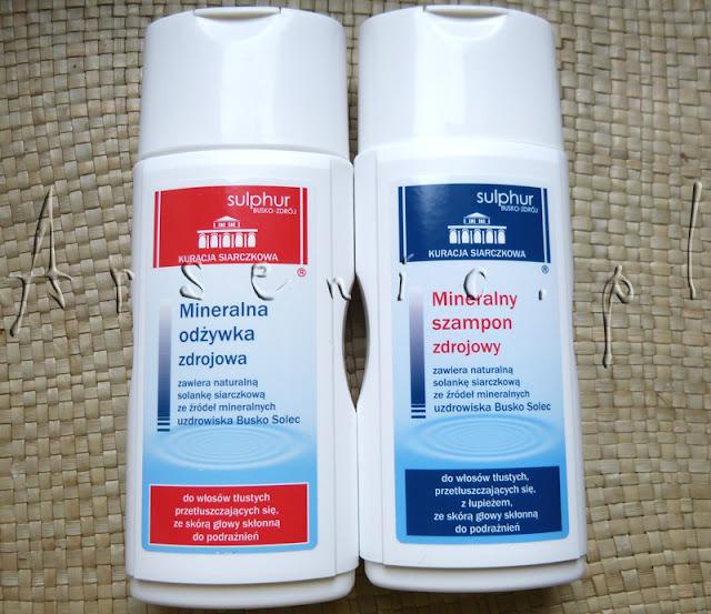 Mineralny szampon zdrojowy i odżywka Sulphur Busko-Zdrój