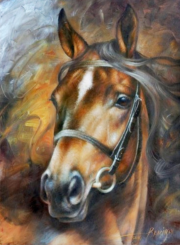 Im genes arte pinturas cabezas de caballos pinturas leo - Los cuadros mas bonitos ...