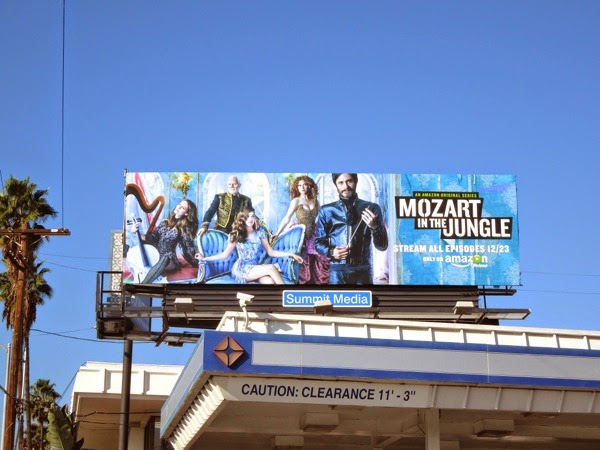 Mozart in the Jungle series premiere billboard