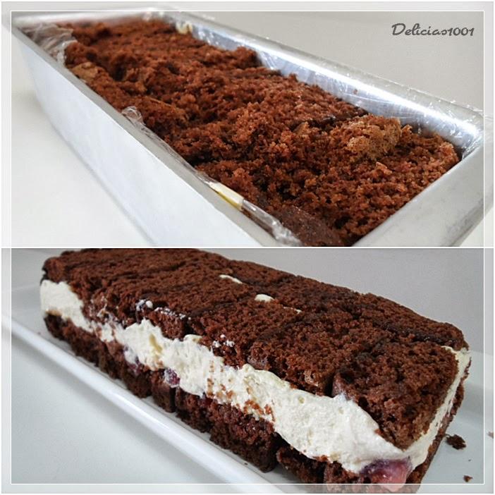 Fabuloso Bolo de chocolate com mousse de leite em pó - Delícias  FW04
