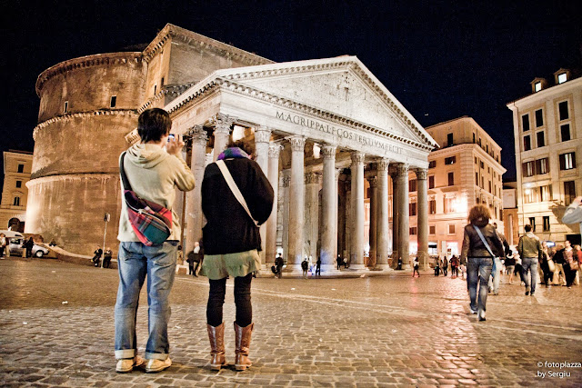 Pantheon, Ancient Rome, Italy, stock photography