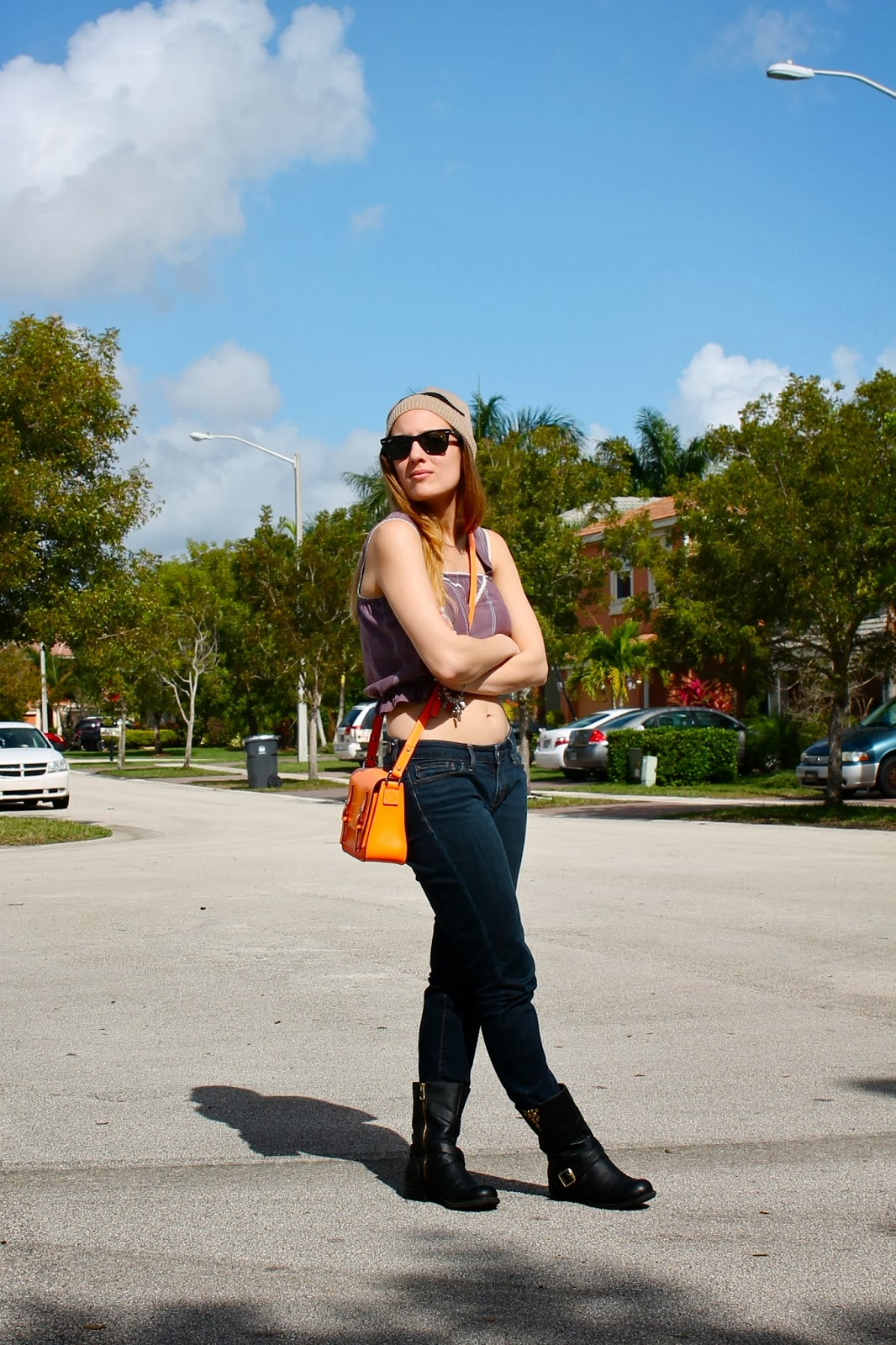 crop tops, warm weather, outfit ideas, Miami fashion blogger, Levi's Jeans, LF hat, Nordstrom jewelry, hipster, edgy