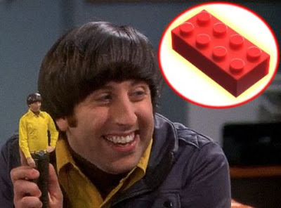 Howard Wolowitz and a building block