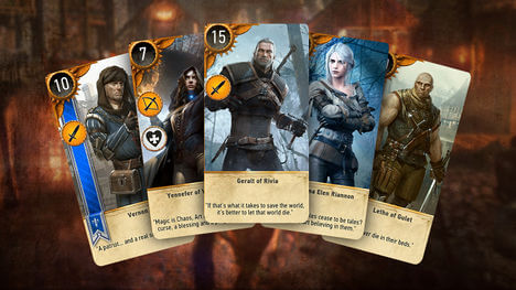 win all gwent cards