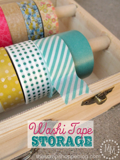 Not Just Paper and Glue: Washi Tape Storage Tutorial {Michele from The Scrap Shoppe}
