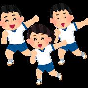 体育でダンスを踊る生徒のイラスト