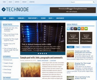TechNode Blogger Template