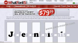 Tips Mengetahui Jenis Font