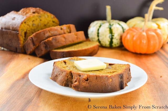Moist Pumpkin Bread with easy to follow step by step instructions.