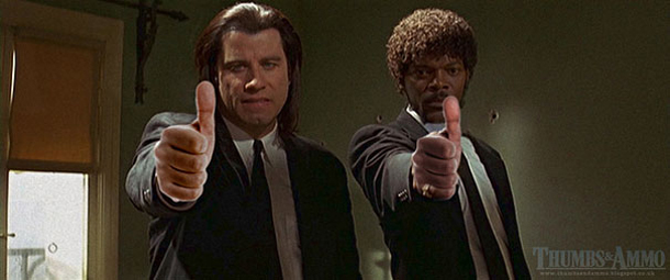 Thumbs and Ammo - Pulp Fiction - John Travolta e Samuel L Jackson