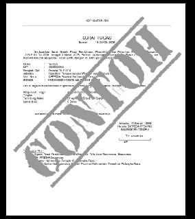 Contoh Format Surat Lamaran Kerja Instansi Pemerintahan