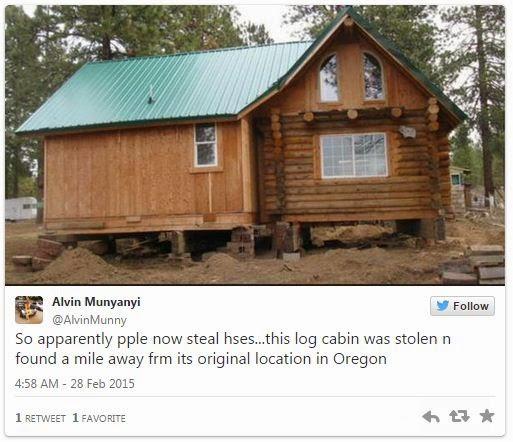 Se robaron una casa completa con una grua