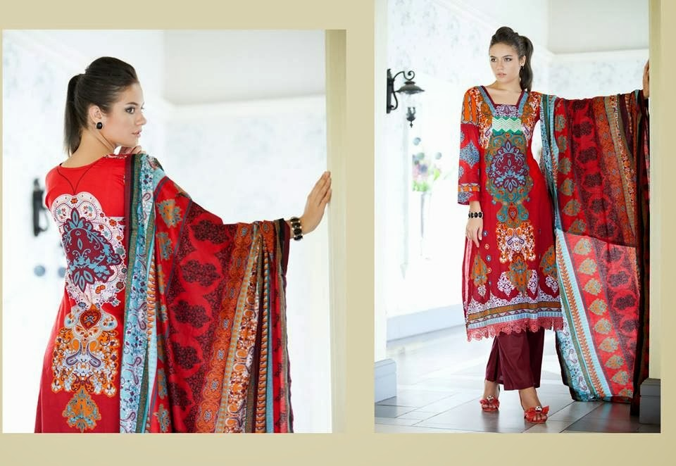 MonsoonLawn2014ByAl ZohaibTextile wwwfashionhuntworldblogspotcom 01 - Monsoon Lawn Spring/Summer Collection 2014