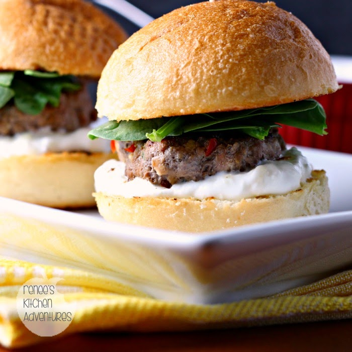 "Middle Eastern Style Lamb Sliders with Yogurt Sauce:  They will make you say ""I love EWE!"" #LocalLambGlobalFlavor #CleverGirls"