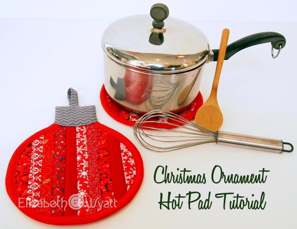 Elizabeth Wyatt Sewing Patterns: Stripey Christmas Ornament Hot Pad ...