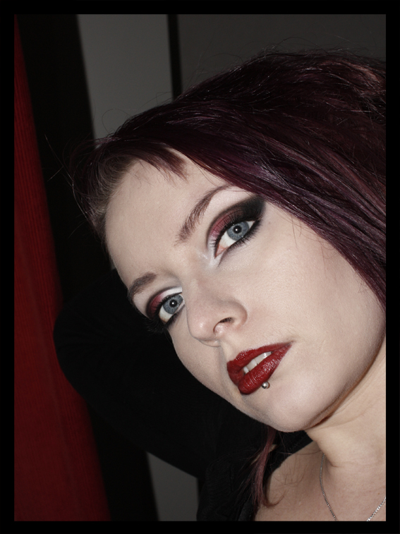 Black And Red Goth Makeup