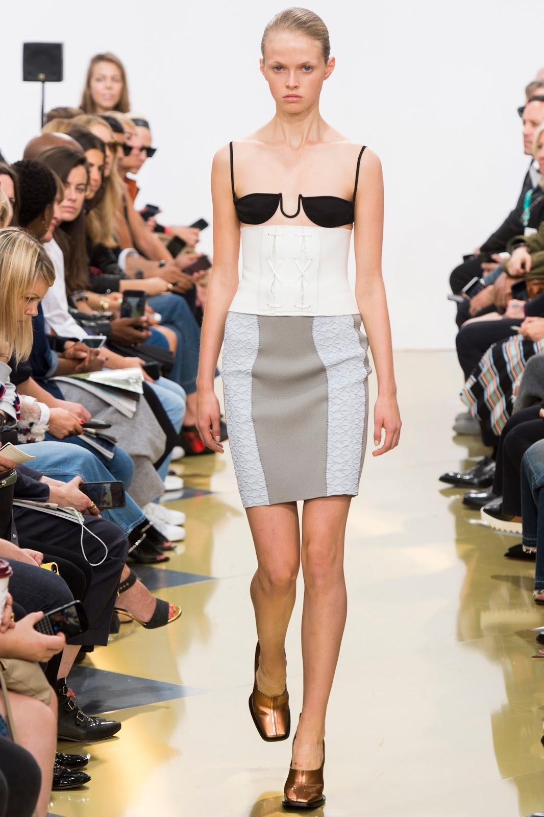 lfw spring 2016, London Fashion Week, model, catwalk, pencil skirt, designer