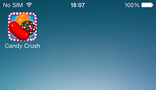 candy crush icon on iphone home screen