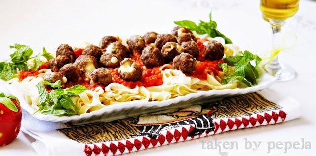 Fetuccini & Mozzarellalı köfte