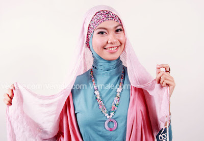 Cara Memakai Jilbab kerudung Pashmina Modern Kreasi Untuk Pesta