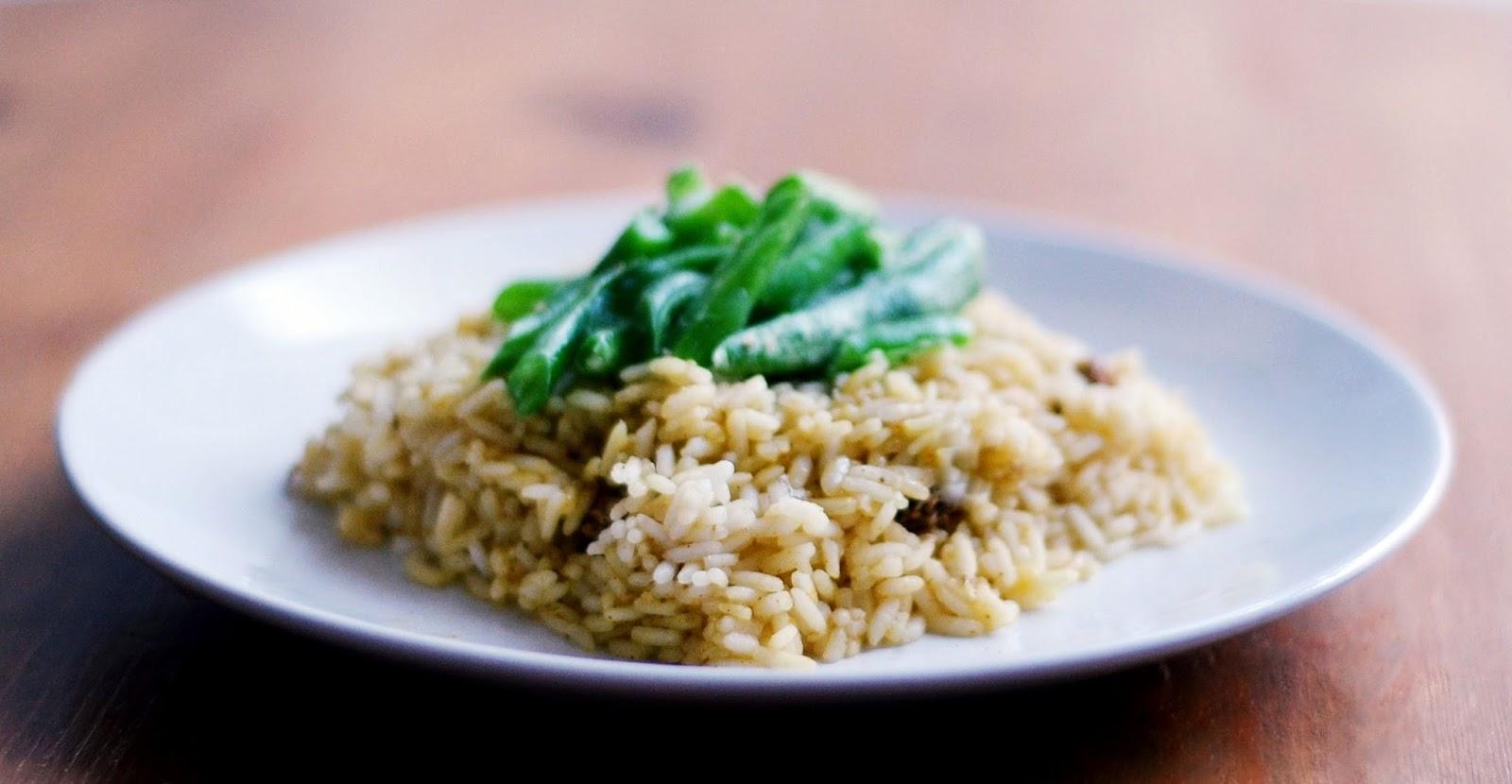 curry z fasolką szparagową