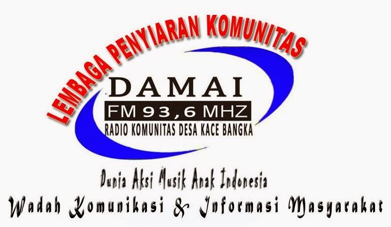 Radio Komunitas DAMAI FM Desa Kace Bangka