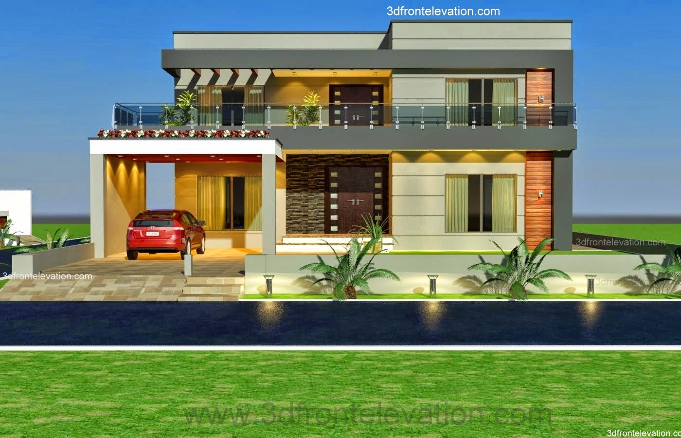 Front Elevation Of 20 Marla Houses : D front elevation kanal old style house convert in