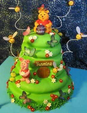 Tortas de oso pooh para fiestas infantiles for Decoracion winnie pooh para fiesta infantil