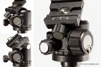 Sunwayfoto XB-44 QR clamp & knob hitting body