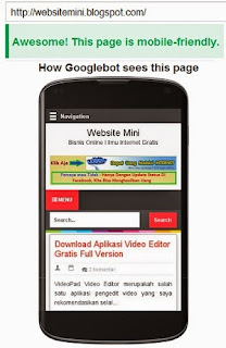 Cara Mengetahui Mengecek Website Blog Mobile Friendly