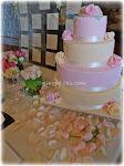 wedding cake rosa e avorio Palazzo Ferrajoli