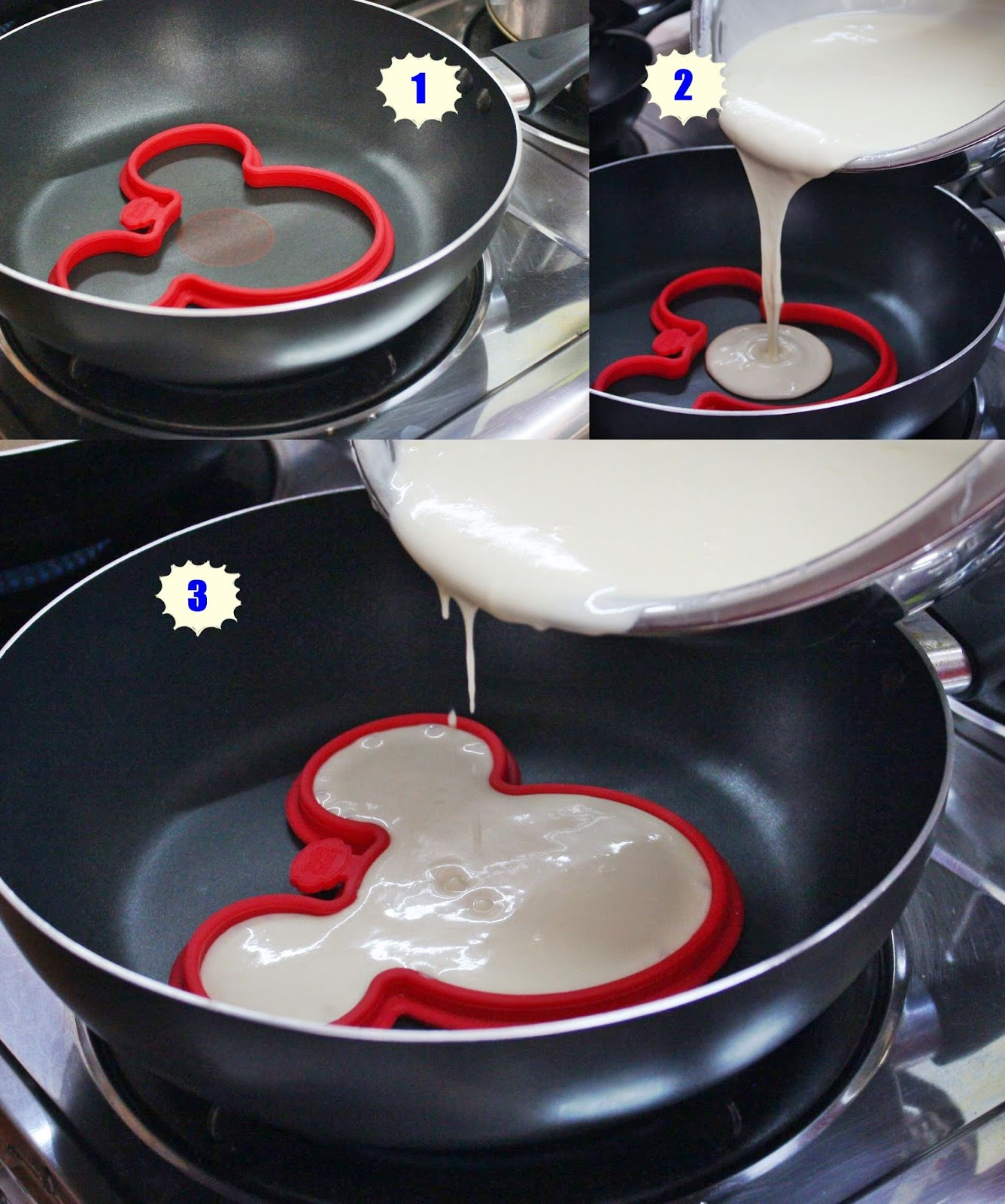Askmewhats top beauty blogger philippines skincare makeup review put the disney character cookie cutter directly on the hot pan or skillet pour pancake batter on a lightly greased pan dont be afraid to make a mess ccuart Images