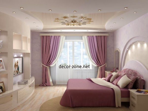 master bedroom decorating ideas, bedroom curtains, ceiling, shelving