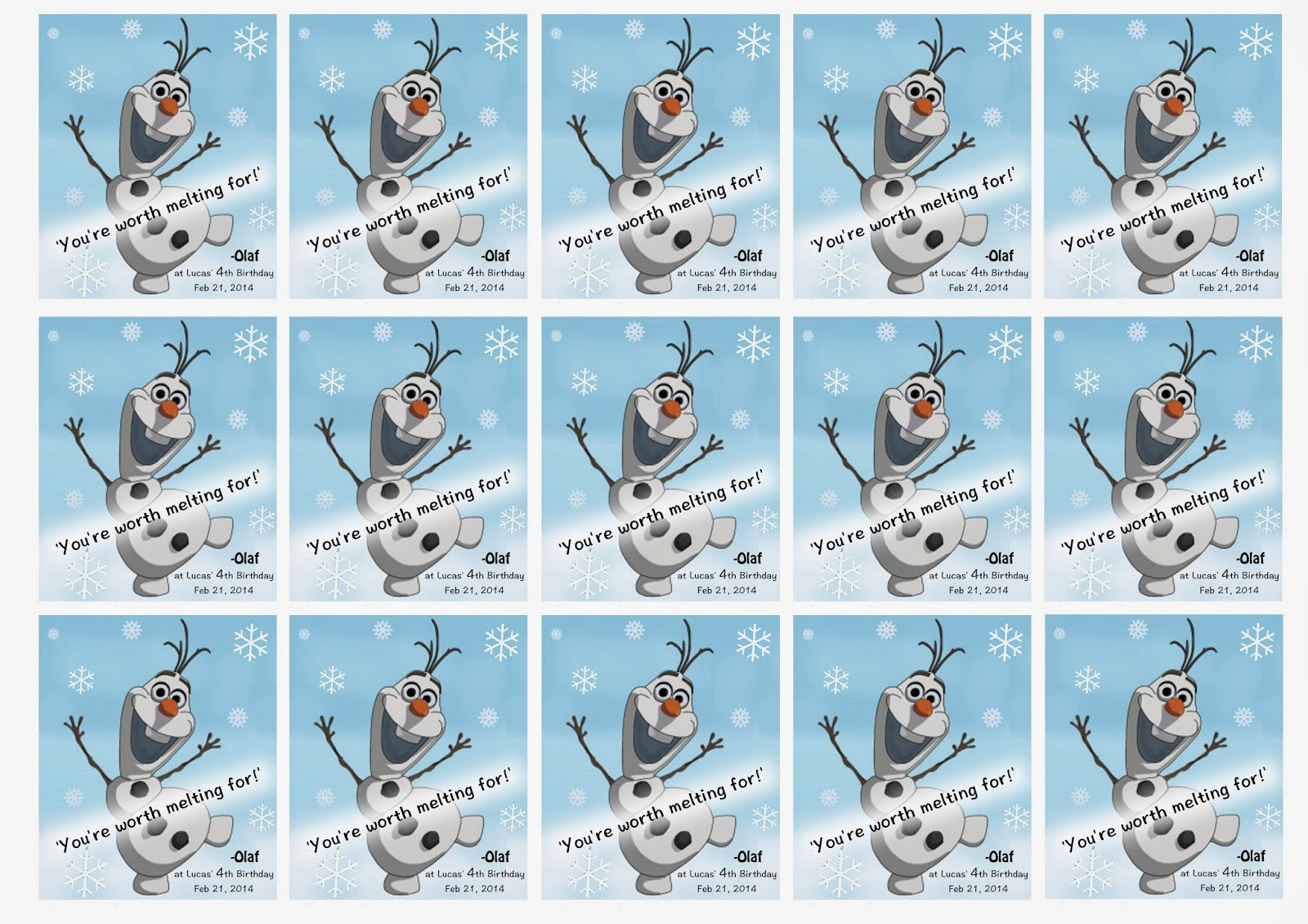 Olaf carrot nose printable step 1 print image onto pictures