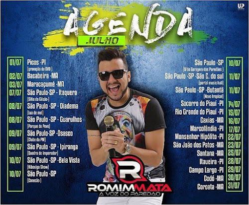 Agenda de Julho 2016 - Romim Mata