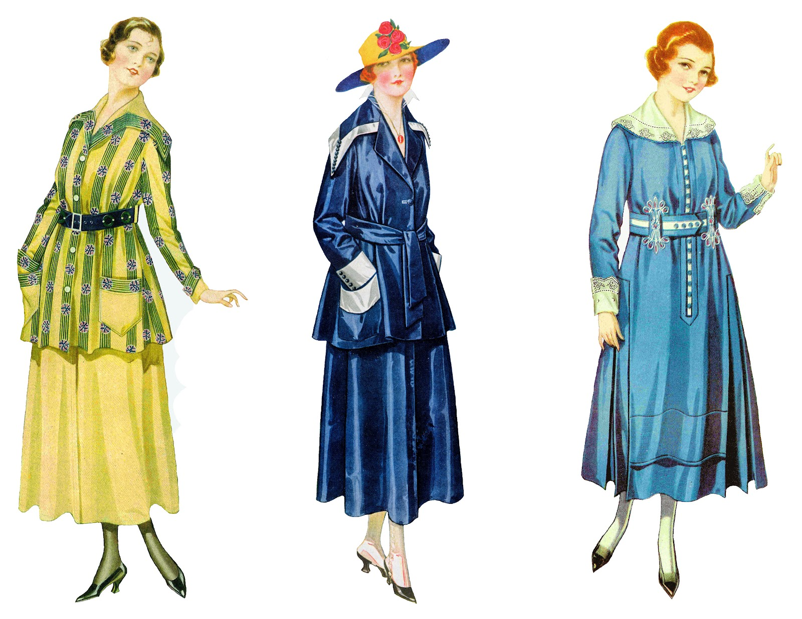 Vintage women s dress fashions from a 1915 clothes catalog aren t they