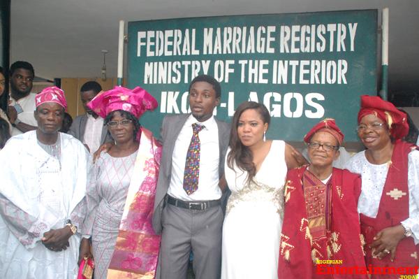 Toyin Aimakhu Weds Adeniji Johnson See All The Photos From Ikoyi Registry