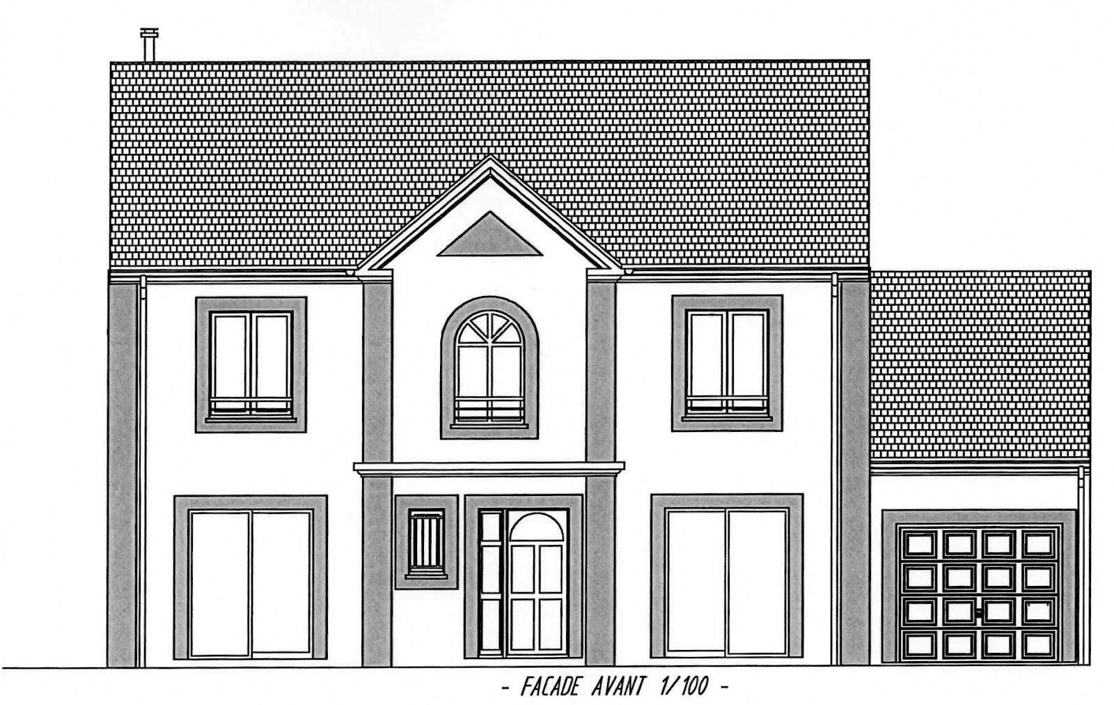 Plan facade maison stunning de la maison le dernier plan - Plan coupe facade maison ...