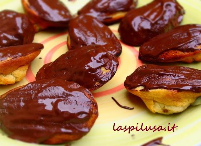 ricetta francese madeleines più cioccolato
