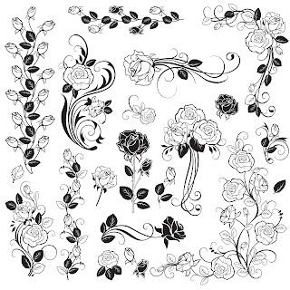 Free Digi Stamp | Roses
